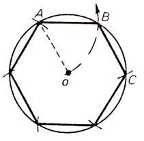 comment dessiner un polygone a 7 cotes